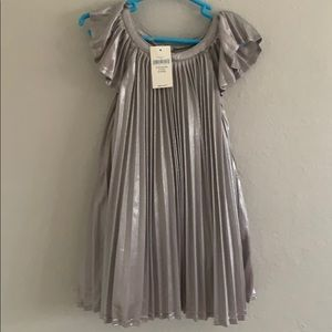 Baby Gap Silver Pleated Party Dress